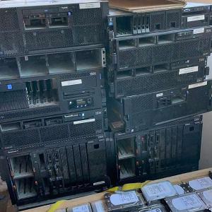 6 pallets of Server Hardware, Switches, UPS, Blade, HP, IBM